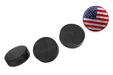 American hockey pucks