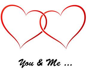 Vector hearts illustration
