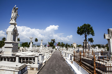 Cemetery Santa Ifigenia in Santiago de Cuba, Cuba