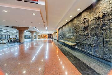 Interior of metro station