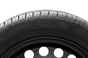 Car tyre with steel rim