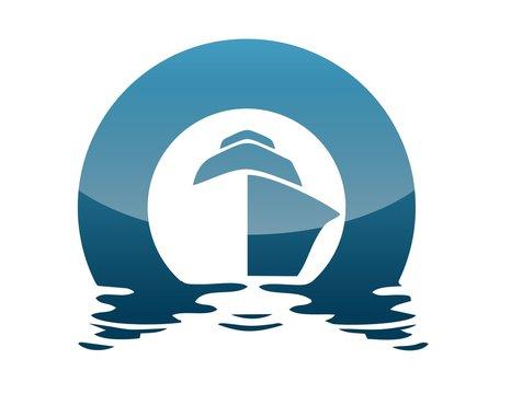 global boat logo wind sea travel cruise sailboat beach