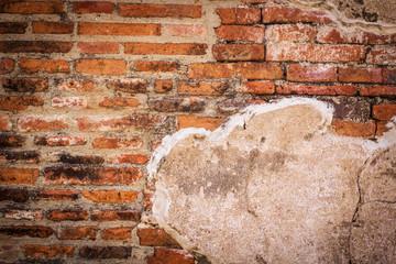Ancient bricks wall,background