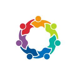 Teammates 7 image. Concept of teamwork logo