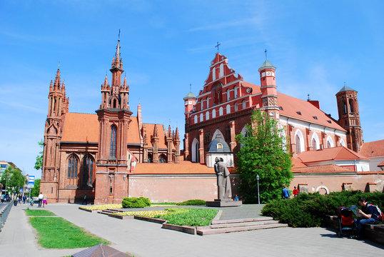 St. Anne's and Bernardinu Church in Vilnius city