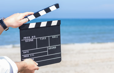 clapboard on the beach