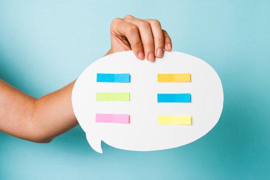 Color messages on speech bubble