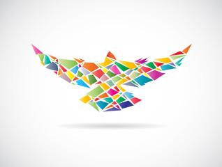 Vector design of colorful birds