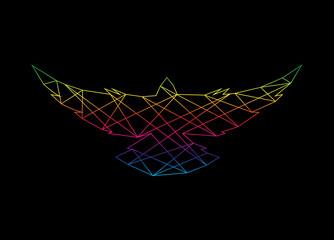 Vector image of an bird polygonal