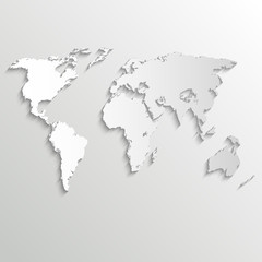 Abstract background with world map on white