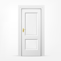 3d door on white background