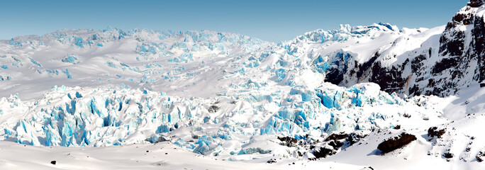 Wall Murals Glaciers slipping from the mountain glacier