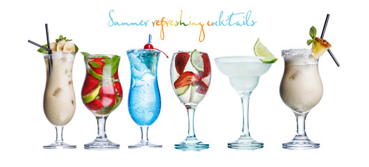 Alcoholis summer cocktails