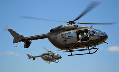 Fototapete - Two UH-72 Lakota Helicopters