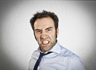 Angry businessman portrait