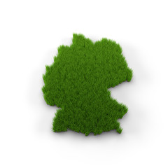 Germany map made of grass. High quality 3D illustration.