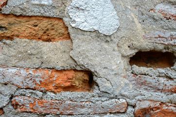 crack of brick wall