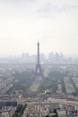 Foggy Paris. View from Monparnas Tower. France