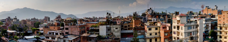 Wall Murals Nepal Panorama Kathmandu city, Nepal