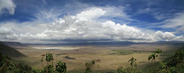 Ngorongoro Krater Panorama, Tansania, Serengeti