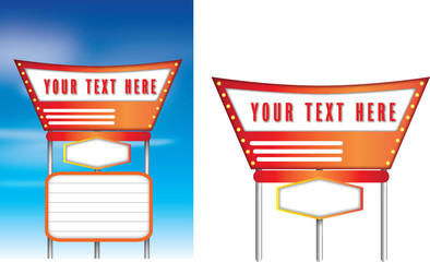 Retro vintage american style signs