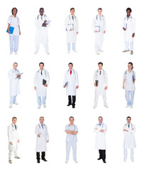 Collage Of Diverse Doctors