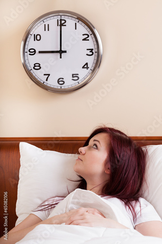woman looking at clock stock photo and royalty free images on
