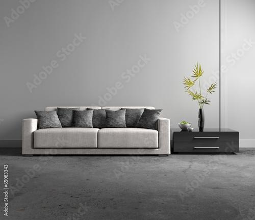 sofa vor grauer wand stockfotos und lizenzfreie bilder. Black Bedroom Furniture Sets. Home Design Ideas