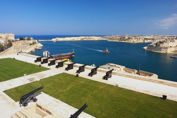 Wall Mural - View from the Valletta of the Grand Harbour, Malta
