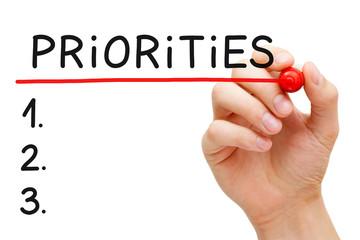 Blank Priorities List Concept