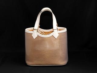 Woman leather handbag isolated