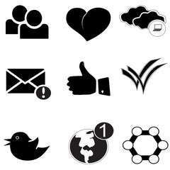 Internet Icons black