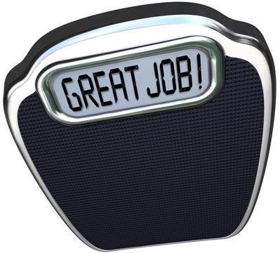 Great Job Praise Congratulations Reach Diet Weight Loss Goal Sca