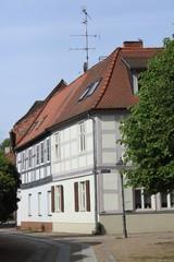 Fachwerkhäuser am Wittstocker Kirchplatz