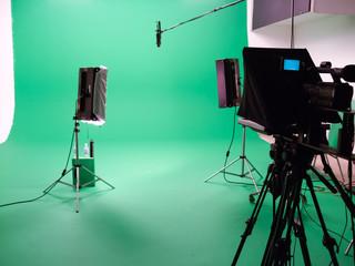 Interiors of a film studio