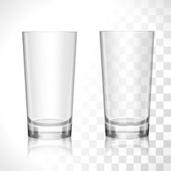 Empty glasses set