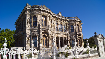 Kucuksu Pavilion built by Sultan Abdulmecit in Istanbul, Turkey