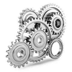 Cog gears mechanism concept. 3d