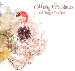 Elegant Classic Christmas Background Card for Celebratiion or In