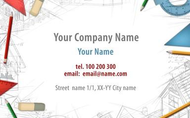 architect constructor designer builder business card background