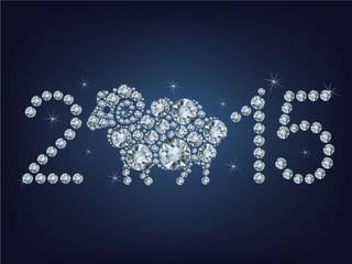 015 creative greeting card with sheep