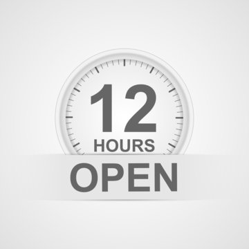12 hours customer service icon.