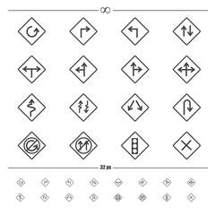 Traffic road sign.vector eps10