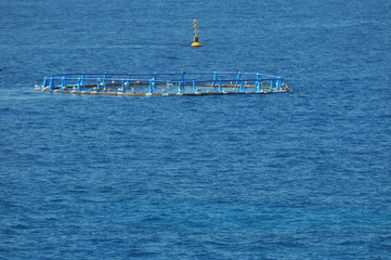 Fish Farm in the Atlantic Ocean