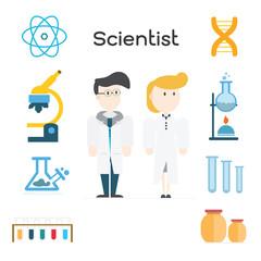 Scientist,illustration vector.