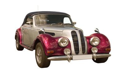 pink Oldtimer, Classic Car, Cabriolet