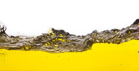 An abstract image of spilled oil . On a white background.