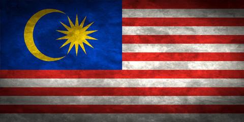 Malaysia grunge flag