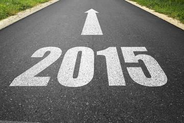 """Straße mit """" 2015 """""""