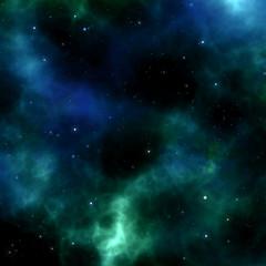 Solar system with milky way, nebulas and stars